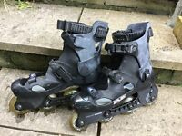 Free pair of Bauer size 10 roller blades - no liner