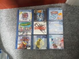 10 Dreamcast Games + accessories