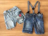 Denim shorts age 3
