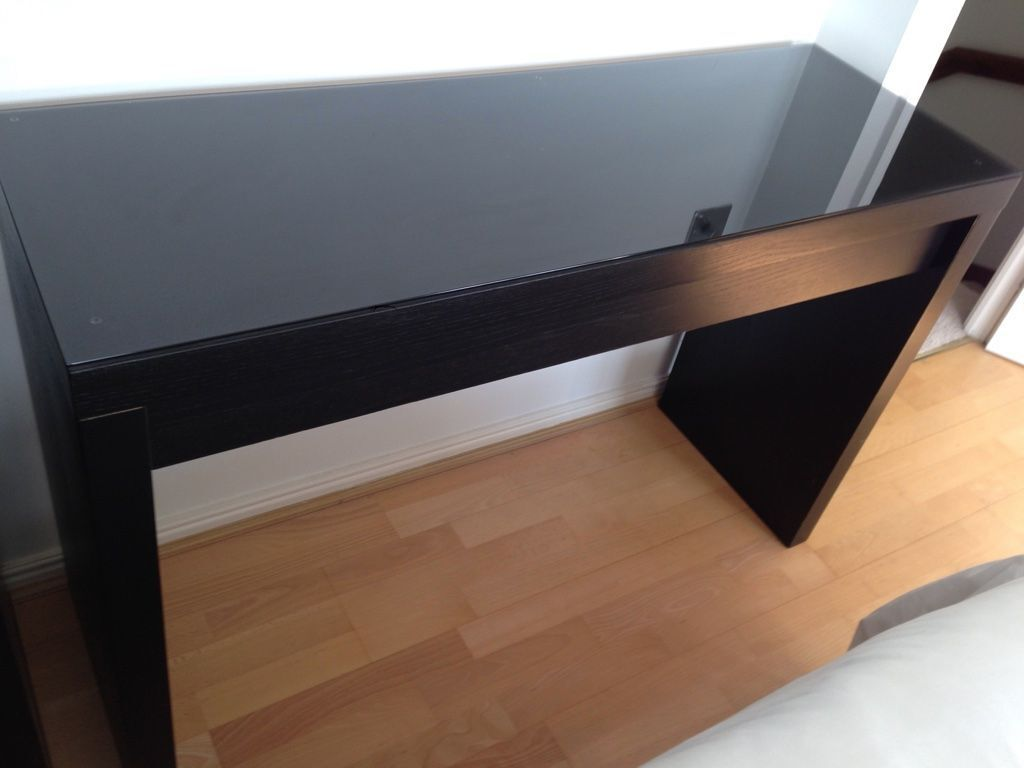 Ikea malm dressing table black brown in plymouth devon for Ikea desk black