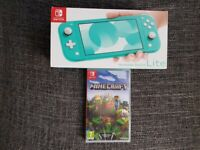 Brand NEW. Nintendo Switch Lite console with Minecraft game