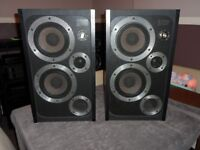 Vintage Wharfedale E30 Speakers With Stands