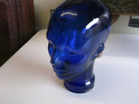 Glass Mannequin Head Wig Hat Display