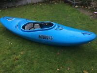 White water kayak. Big Dog Drop Zone. Well used but still in very good condition.