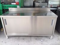 CATERING COMMERCIAL PREP BOX TABLE BENCH TABLE FAST FOOD CAFE RESTAURANT KEBAB SANDWICH PUB BAR
