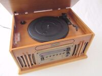 Record Player - immaculate - working - vintage style, with CD, radio, & cassette player