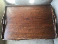 Large Vintage Oak Serving Tray
