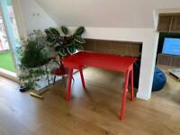 Modern Red Walnut Desk Table