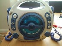 cd player with mics...