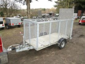 FULLY GALVANISED 8 X 3-6 CAGED TRAILER 1300KG BRAKED WITH ALLOY RAMPTAIL...