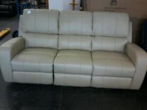 New!  Reclining Cream color reclining Sofa Regular $1599 Now $750 Taxes included