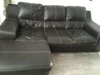 3 seater leather sofa with chaise
