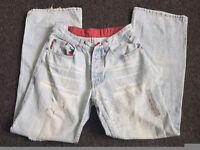 2 x mens worn style jeans