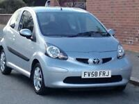 2008 TOYOTA AYGO 1.0 VVTI PLATINUM LOW MILEAGE NEW WATER PUMP LONG MOT 3 MONTHS WARRANTY