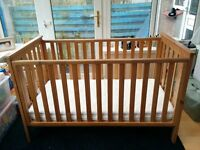 Mothercare Jamestown cot bed and mattress