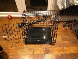 Small/Medium travel dog crate foldable