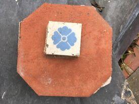 Original red octagonal quarry tiles
