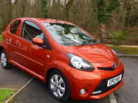 STUNNING TOYOTA AYGO WITH ONLY 12000 MILES ON THE CLOCK