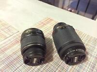 Lens Nikon 18:55 and 55:200