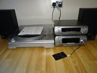 TECHNICS AMPLIFIER / TUNER +SOUND PROCESSOR+ ION USB TURNTABLE+SPEAKERS+IPOD /MP3 LEAD
