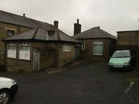 Detached large split level stone building whitworth rossendale planning 2 apartments or poss more