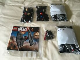 LEGO 75101 Star Wars First Order Special Forces TIE fighter Set (Used) Collect Only