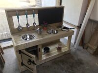 Mud kitchens - can be made to order, smaller, bigger.
