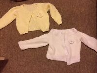 Hand knitted cardigans x2