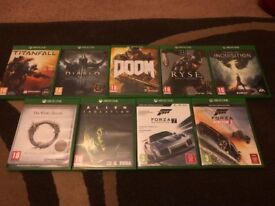 Xbox One Games All in perfect working condition