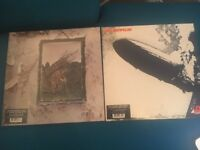 Led Zeppelin I and Led Zeppelin IV vinyls in mint condition