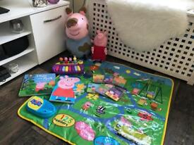 Peppa pig toys bundle play mat laugh with Peppa George books