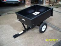Garden tipper cart (Agri-fab) - for use with ride on mower / tractor. 500lb load New & unused
