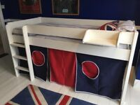 Stomps Mid-Sleeper Bed. Good condition. Tent as new.