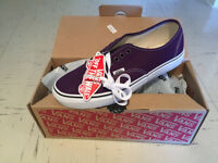 Vans ' Authentic' shoes - UK Size 7 unisex - plum purple / true white ** BRAND NEW **