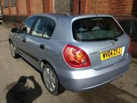 Nissan Almera 17000 miles one previous keeper amazing condition mot till Feb 2018 fully serviced