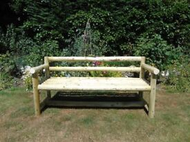 New Rustic, handcrafted, 3 Seater Garden Log Bench (5 ft)