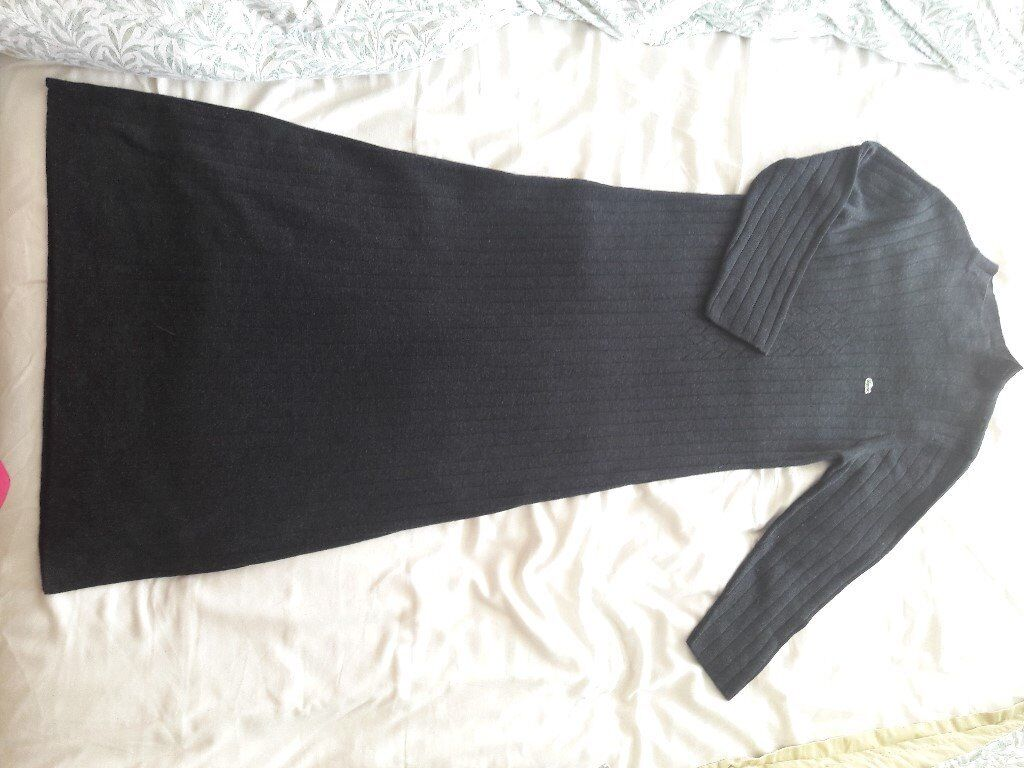 Lacoste Size 10 Black Ribbed Dress, Never Worn