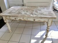Vintage Solid Pine Patinated FARMHOUSE Table with draws.