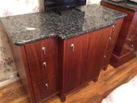 Marble topped sideboard very heavy