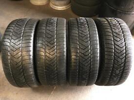 4 PW 255 45 20(105V) Pirelli Scorpion Winter M+S Extra Load Tread 5mm-6mm