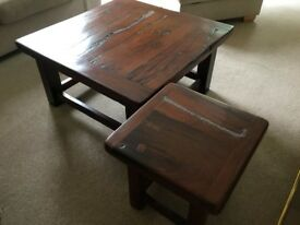 Coffee Tables - Solid Railway Sleeper (teak)