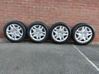 MERCEDES BENZ ALLOY WHEELS WITH NEW TIRES 245/45/17 99W - FITS ALL MERCEDES MODELS