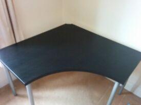 Ikea Linnmon Corner Desk in Black / Brown