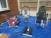 Various exercise equipment (£10 each)
