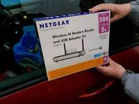 Netgear Wireless-N Router and USB Adapter Kit