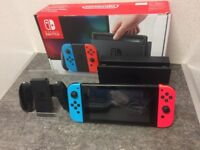 Nintendo Switch 32GB Neon Boxed With Mario Kart 8 Deluxe