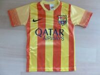 BARCELONA AWAY SHIRT VERY GOOD CONDITION SIZE 6-7