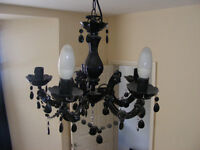 2 Light fittings ceiling light lampshades