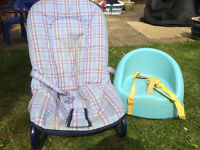Mothercare Baby bouncer and portable booster seat - keep your child comfortable and safe. Only £5.