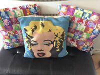 3x Marilyn Monroe cushion